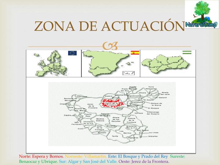 ZONA DE ACTUACIÓN
