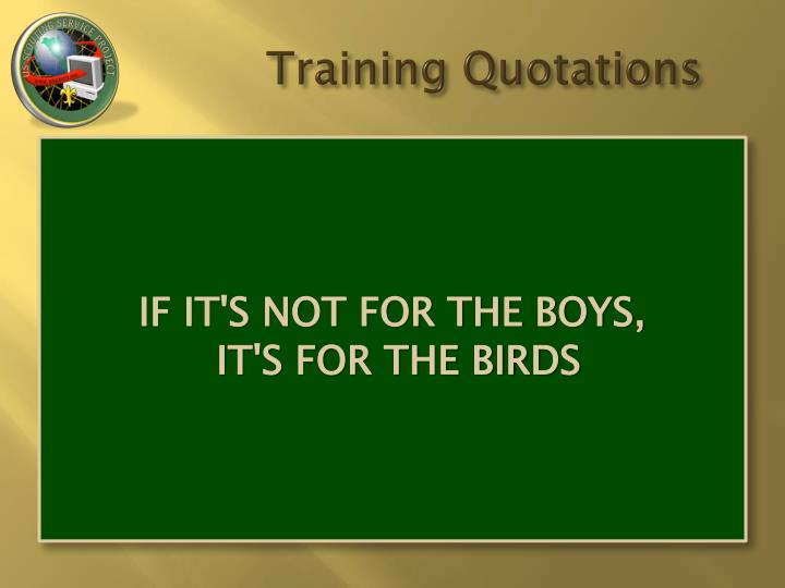 Training Quotations