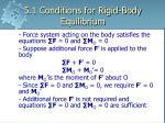 5 1 conditions for rigid body equilibrium6