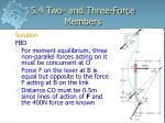 5 4 two and three force members9
