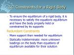 5 7 constraints for a rigid body