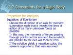 5 7 constraints for a rigid body11