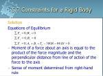 5 7 constraints for a rigid body14