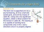 5 7 constraints for a rigid body31