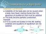 5 7 constraints for a rigid body6