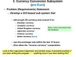 5 currency conversion subsystem pre euro
