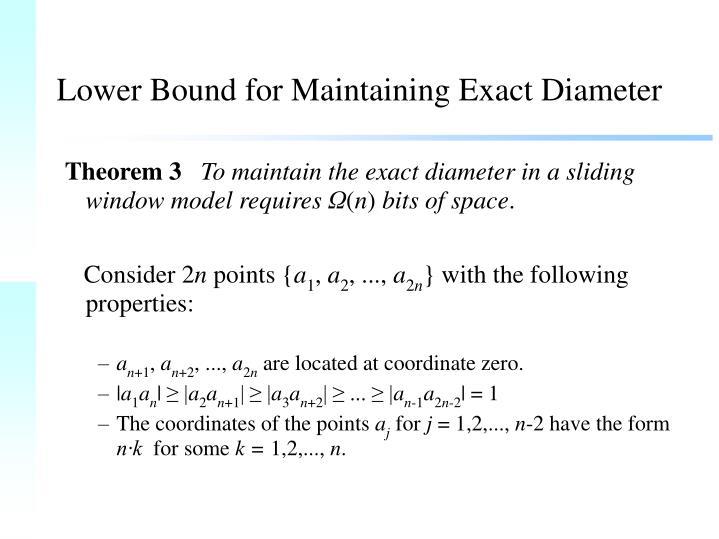 Lower Bound for Maintaining Exact Diameter