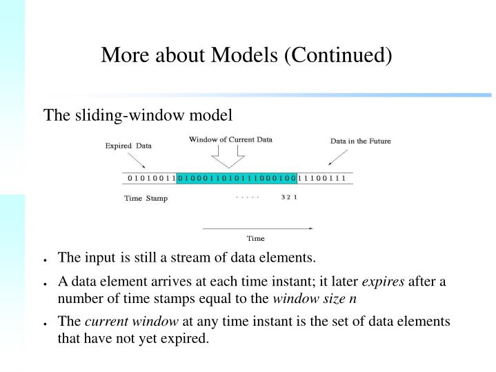 More about Models (Continued)