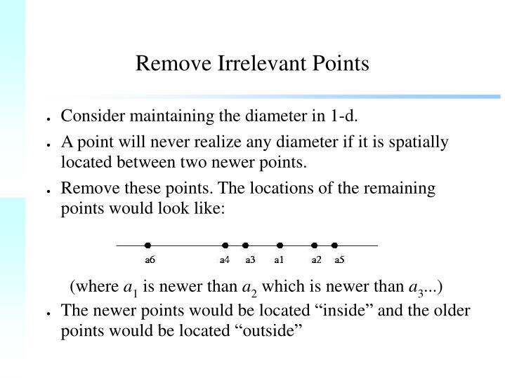 Remove Irrelevant Points