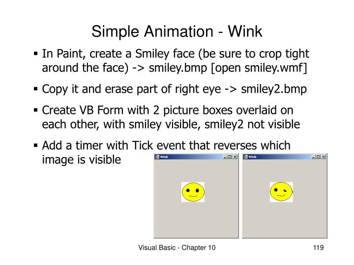 Simple Animation - Wink