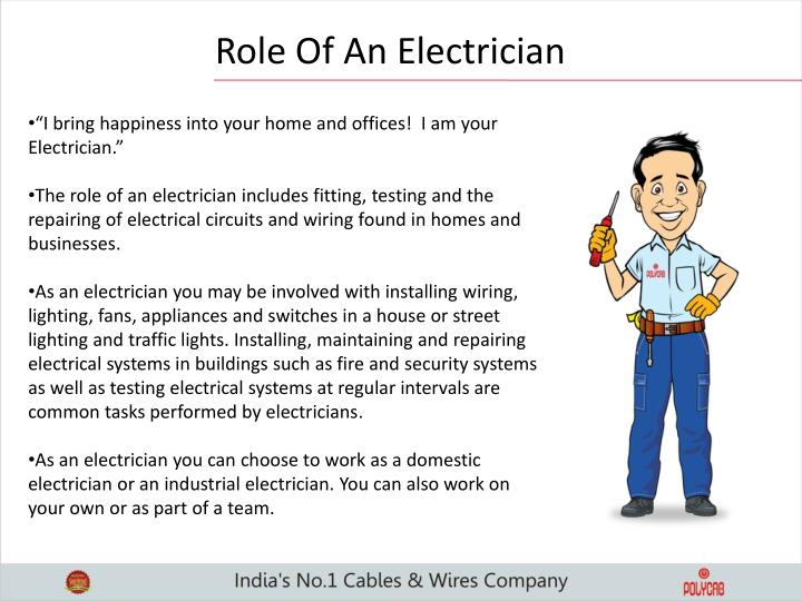 Role Of An Electrician