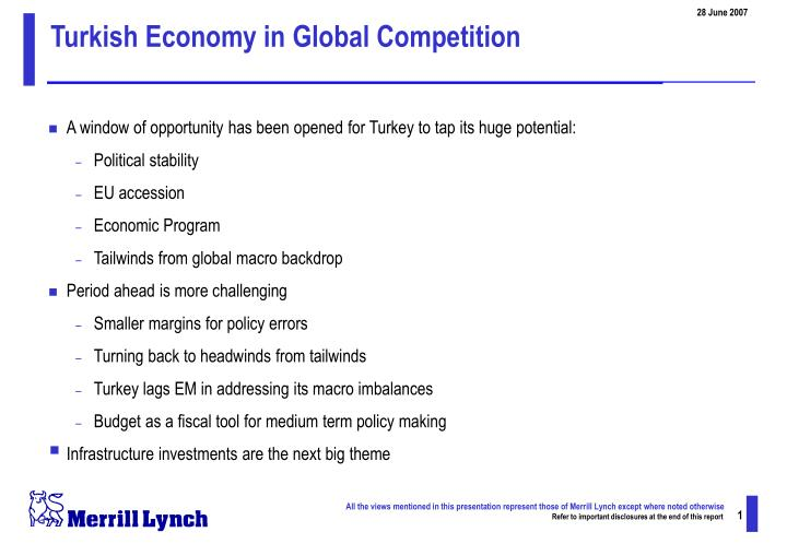 Turkish Economy in Global Competition