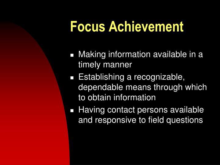 Focus Achievement