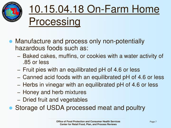 10.15.04.18 On-Farm Home Processing