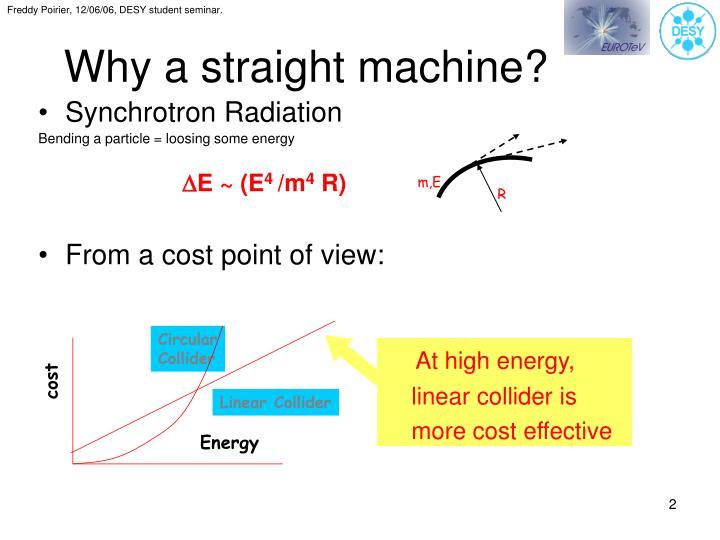 Why a straight machine