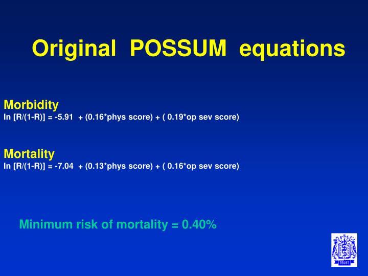 Original  POSSUM  equations