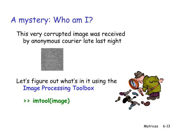 A mystery: Who am I?