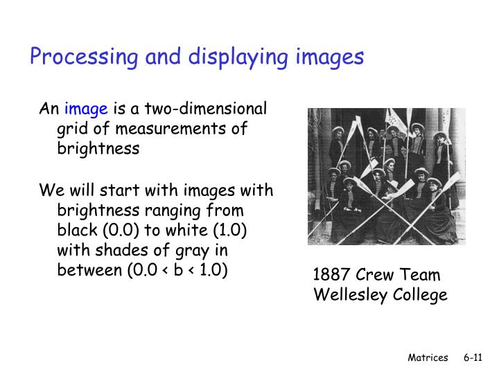 Processing and displaying images