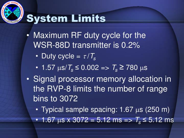 System Limits