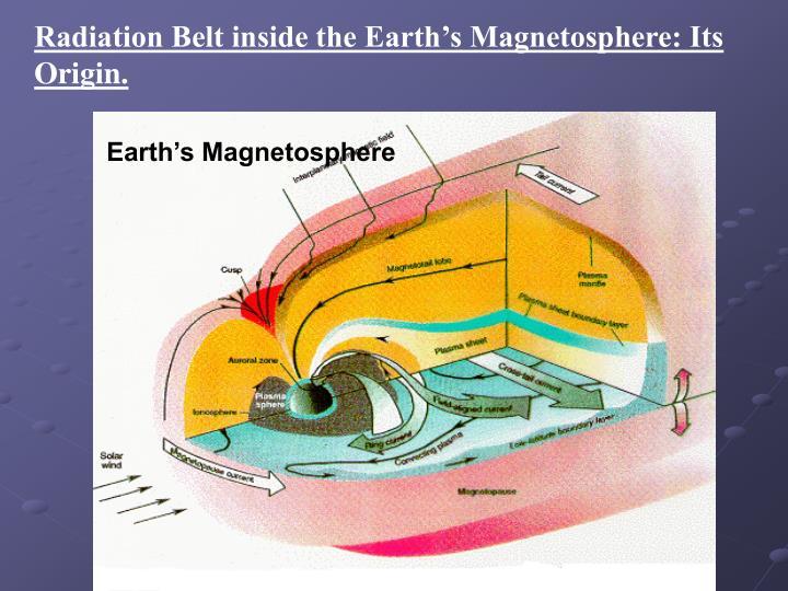 Radiation Belt inside the Earth's Magnetosphere: Its Origin.