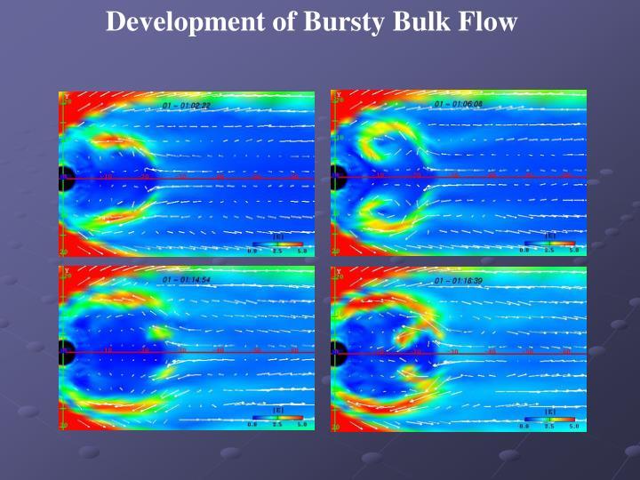 Development of Bursty Bulk Flow