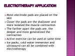electrotherapy application