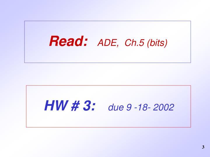 Read ade ch 5 bits