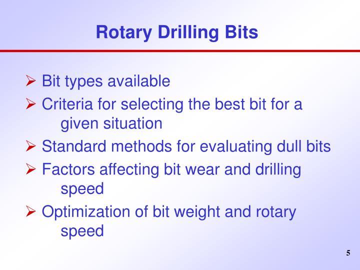 Rotary Drilling Bits