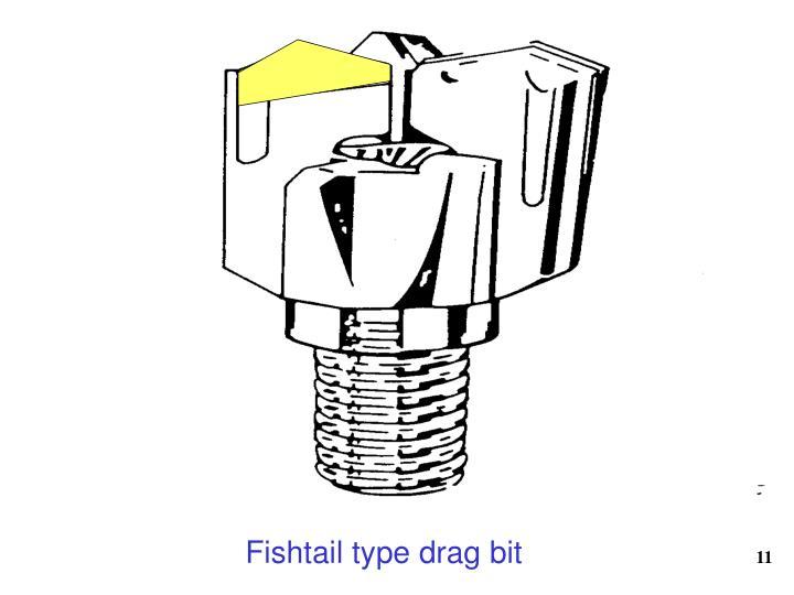 Fishtail type drag bit