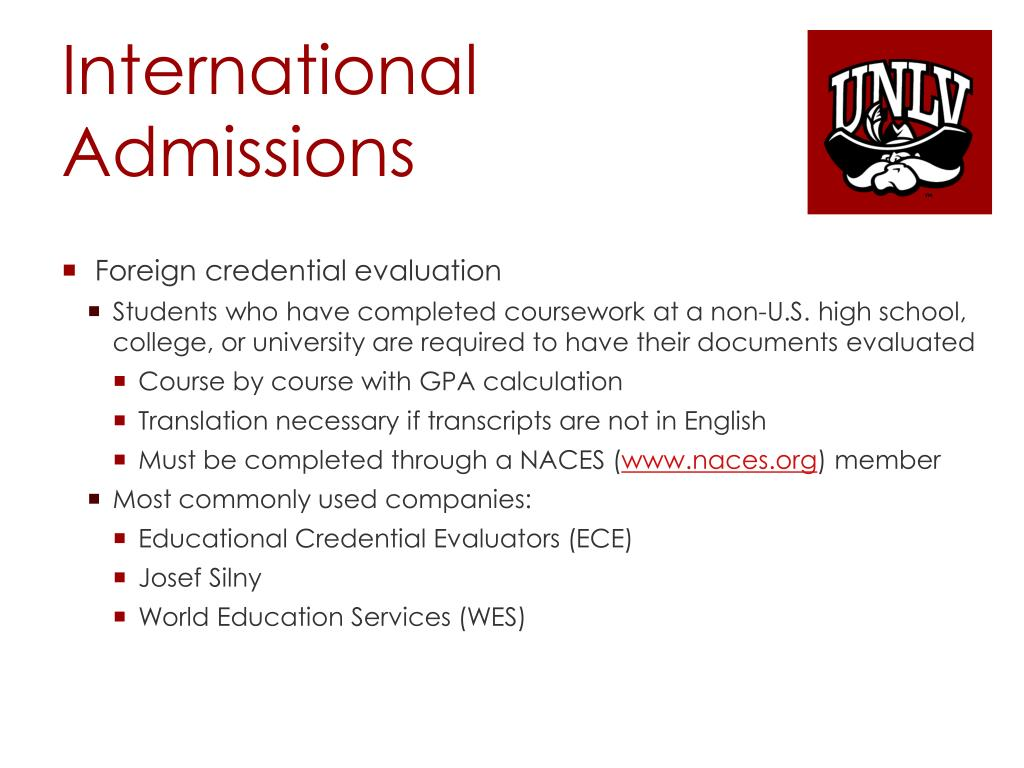 PPT - Studying & Working at UNLV as an International Student