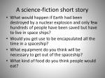 a science fiction short story