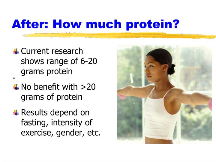 After: How much protein?