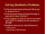 solving qualitative problems