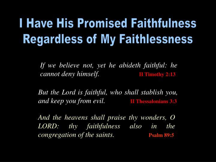 I Have His Promised Faithfulness