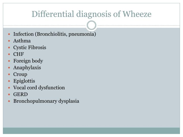 Differential diagnosis of wheeze
