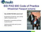bsi pas 900 code of practice wheelchair passport scheme1