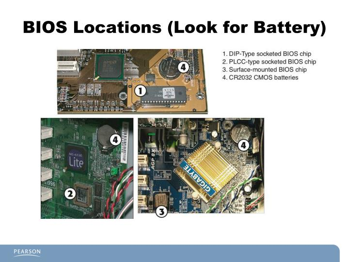 BIOS Locations (Look for Battery)