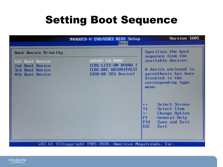 Setting Boot Sequence
