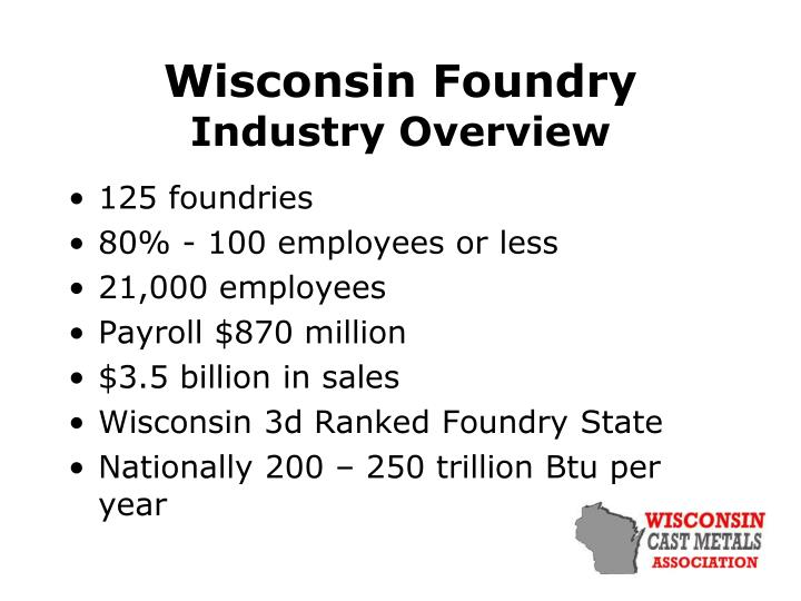 wisconsin foundry industry overview