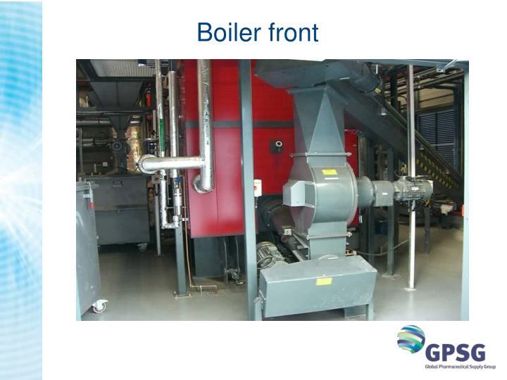 Boiler front