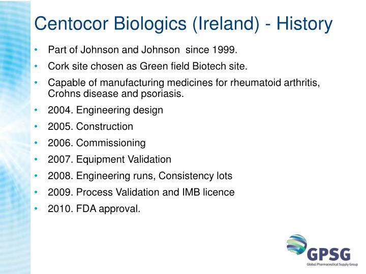 Centocor biologics ireland history
