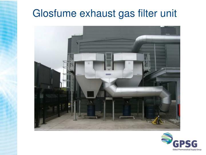 Glosfume exhaust gas filter unit