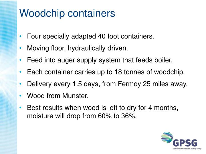 Woodchip containers
