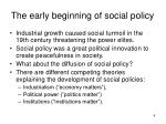 the early beginning of social policy