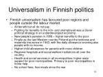 universalism in finnish politics