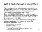 ww ii and new social integration