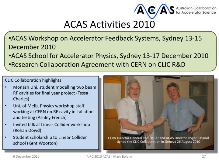 ACAS Activities 2010