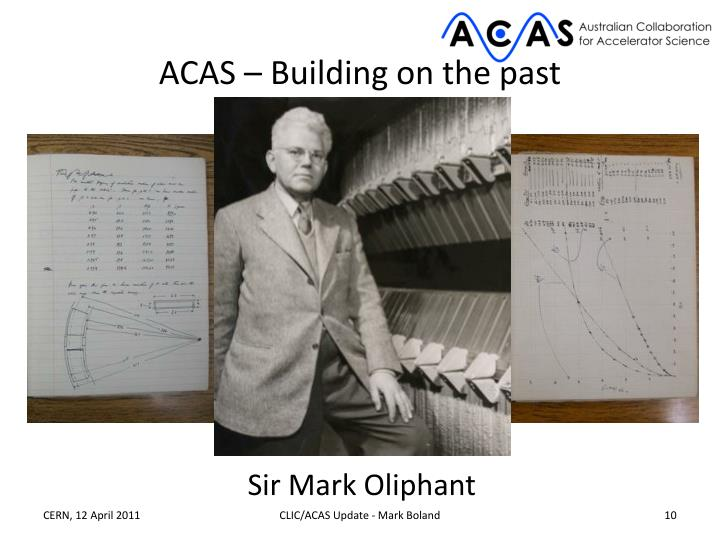 ACAS – Building on the past