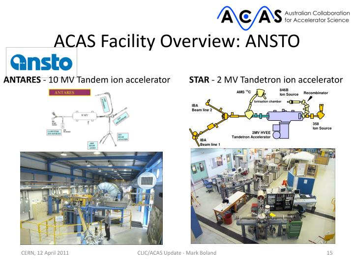 ACAS Facility Overview: ANSTO