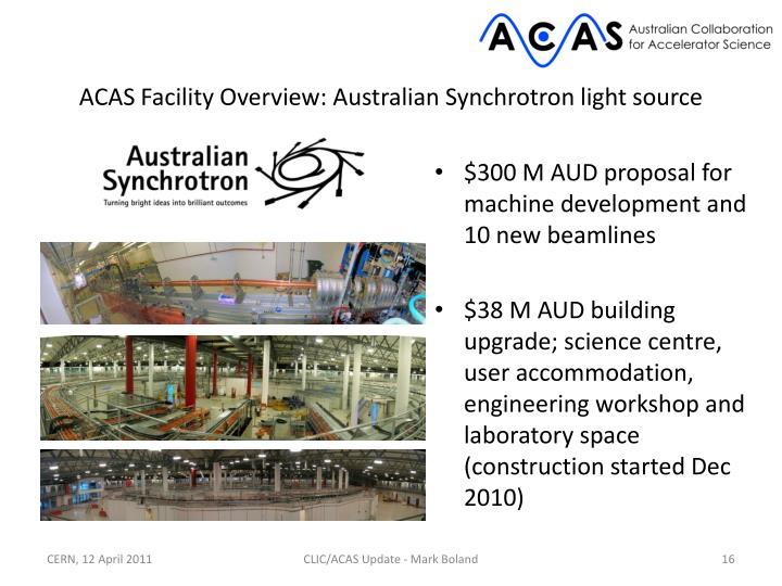 ACAS Facility Overview: Australian Synchrotron light source